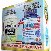 95-HCA-Garcinia-Colon-Detox-Cleanse-Combo-Pack-2-Most-Potent-Weight-Loss-Supplements-Pure-Cambogia-Extract-Slim-And-Max-Strength-Cleanser-Diet-Pills-To-Reduce-Appetite-Block-Fat-0-2