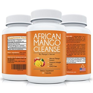 African-Mango-Cleanse-for-Quick-Weight-Loss-Purest-African-Mango-Extract-with-No-Filler-Natural-Irvingia-Gabonensis-Pure-Diet-Detox-100-Money-Back-Guarantee-60-Supplement-Pills-0