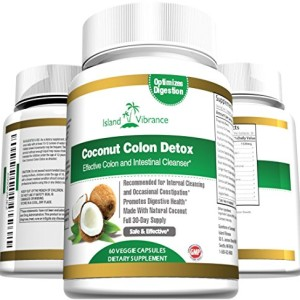 Coconut-Colon-Detox-Supplement-Super-Formula-for-Cleanse-and-Weight-Loss-Best-All-Natural-Daily-Digestive-Cleanser-and-Detoxifier-for-Maintenance-and-Flushing-Impurities-and-Toxins-60-Veggie-Capsules-0