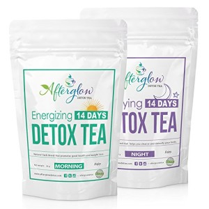 Detox-and-Weight-Loss-Tea-Combo-2-Packs-Morning-Night-14-Days-Herbal-Body-Cleanse-and-Natural-Weight-Loss-Diet-Tea-with-Powerful-Garcinia-cambogia-FREE-MEAL-PLAN-by-Afterglow-Teas-0