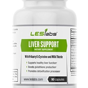 Liver-Support-90-Vegetarian-Capsules-by-LES-Labs--Supports-Liver-Function--Boosts-Glutathione-Production--Promotes-Detoxification--With-Milk-Thistle-NAC-ALA-Dandelion-Root-0