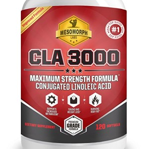 Mesomorph-CLA-3000-Top-Weight-Loss-Fat-Burner-CLA-Supplement-All-Natural-Maximum-Strength-Plant-Derived-Conjugated-Linoleic-Acid-CLA-Safflower-Oil-For-Women-Men-120-Softgels-0