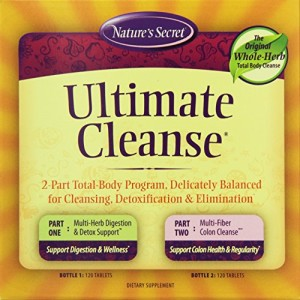Natures-Secret-Ultimate-Cleanse-2-Part-Program-to-Support-Detoxification-Cleansing-Tablets-2-120-Count-Bottles-0